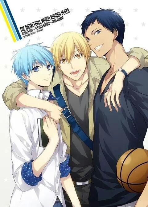 Kuroko, Kise and Aomine