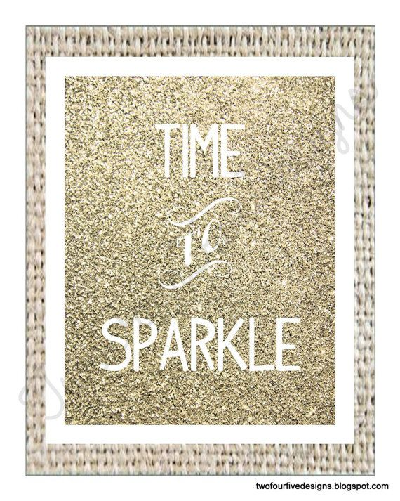 Glitter, Sparkle, Printable, New Year's Printable