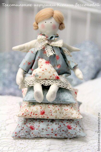 """Куклы Тильды ручной работы. Ярмарка Мастеров - ручная работа Тильдочка """"Ангел"""". Handmade."""
