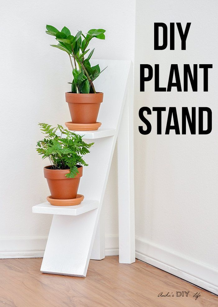 Diy Tiered Plant Stand Using Scrap Wood Woodworking Projects Diy Diy Plant Stand Wood Projects For Beginners