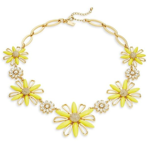 Kate Spade New York Daisy Dreams Statement Necklace (€205) ❤ liked on Polyvore featuring jewelry, necklaces, yellow, daisy statement necklace, daisy necklace, kate spade, yellow statement necklace and bib statement necklace
