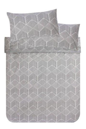 100% Cotton Printed Geometric Duvet Cover Set