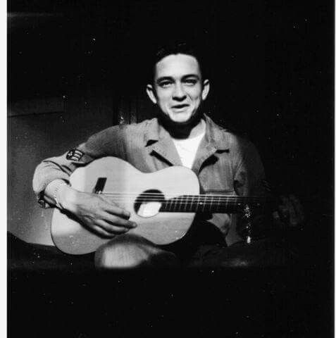 Young Johnny Cash in the Air Force