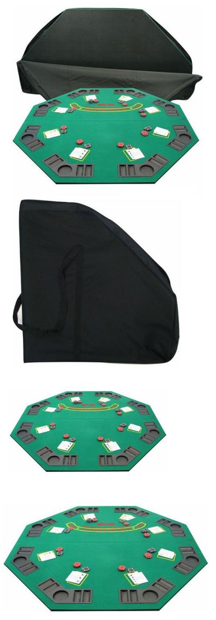 Card Tables and Tabletops 166572: Green Felt Octagon Poker Blackjack Tabletop Table Top Home Cards Texas W Case -> BUY IT NOW ONLY: $49.49 on eBay!