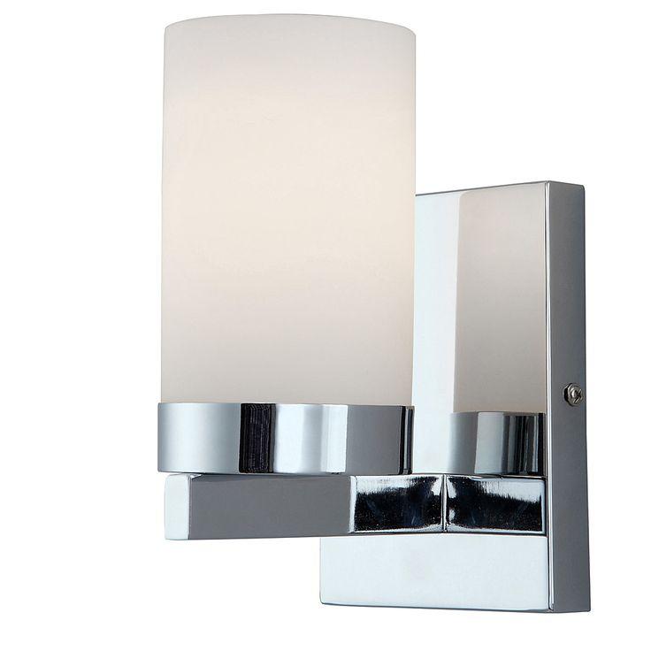ACHETEZ EN LIGNE, RAMASSEZ EN MAGASIN  Applique murale Milo 1 lumière au fini chromé et abat-jour en verre mat. Conçu spécialement pour la salle de bain, résiste à l'humidité. Peut être posé avec la lumière par en haut ou en bas et équipé du système de connexion à insertion «Easy Connect». Utilise 1 ampoule 100 W de type A (vendue séparément).    Livraison en magasin dans un délai de 7 à 10 jours ouvrables environ.