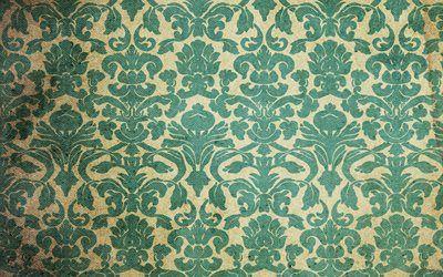 текстуры, винтаж, обои, пятна, старение, орнамент, стена, фон, vintage wallpaper