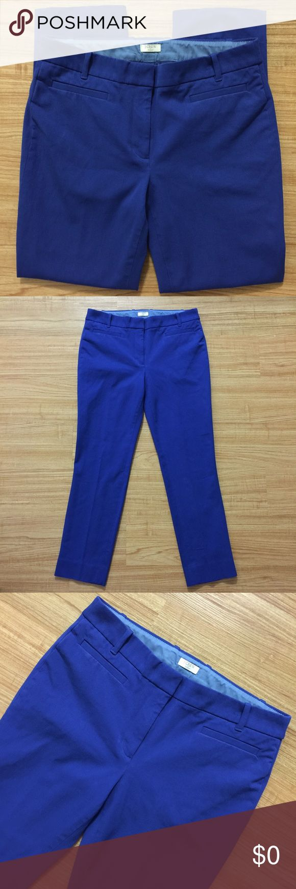 Blue j.crew factory stretch dress pants. Size 6S. Blue j.crew factory stretch dress pants. Size 6S. J. Crew Pants