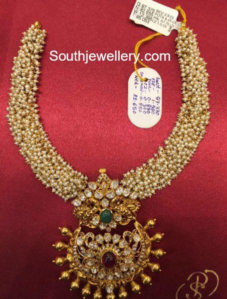 Antique Gold Pearls Haram photo