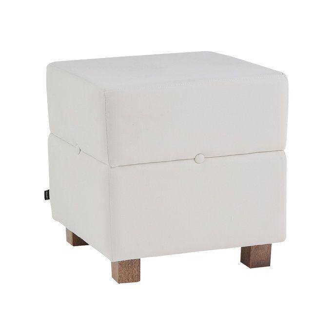 Puff Botton Quadrado - Off-white