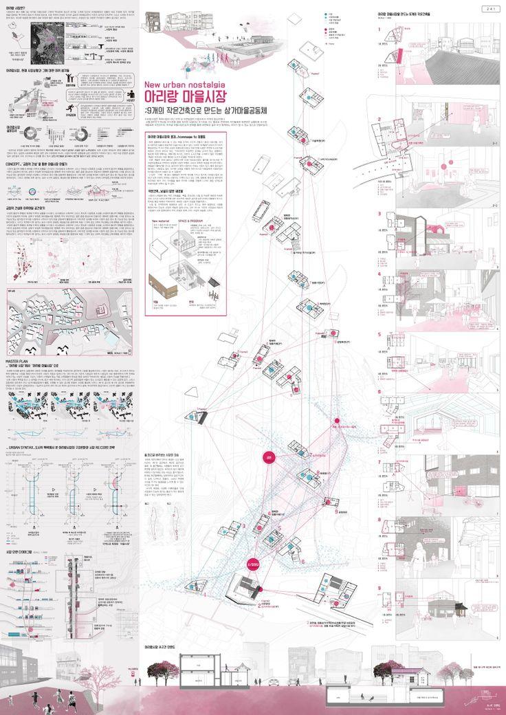 2014 한국 건축 문화 대상 계획부문 수상작 - 대상(국토해양부장관상) 박정인(공주대학교 건축학과) 새로운 도시의 향수 아리랑 마을시장 : 9개의 작은 건축으로 만드는 상가마을공동체