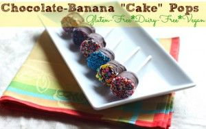 "Chocolate Covered Banana ""Cake"" Pops - Sans the Cake"