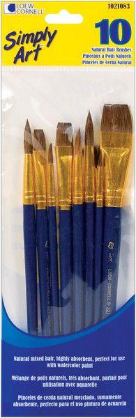 simply art natural hair brush set - 10 ct