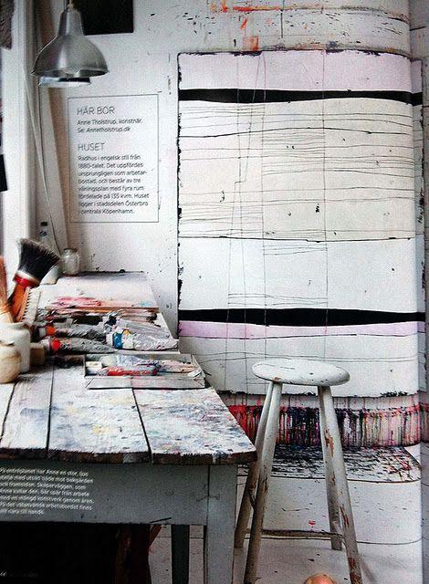 Anne Tholstrups studio.  @shaunaleelange we pin extraordinarily fabulous visual curations.