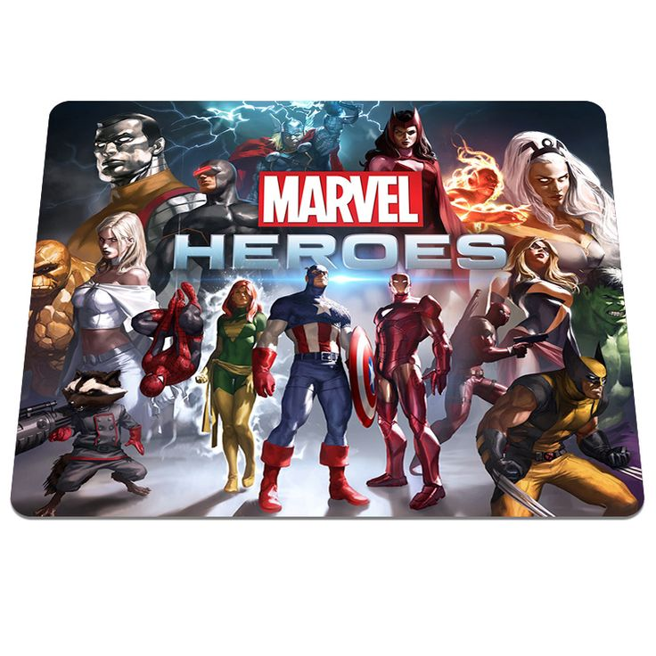 Hot Sale Marvel Heroes Printing Rubber Mouse Pad PC Computer Gaming Mouse Pads Anti-slip Optical Gamer Speed Mice Play Mats