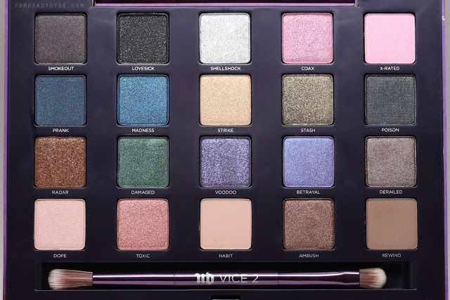 From Head To Toe: REVIEW & SWATCHES: Urban Decay Vice 2 Palette