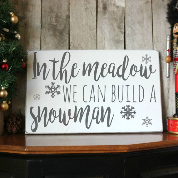 Winter Wood Sign Christmas Wood Sign Winter by PalateForPallets