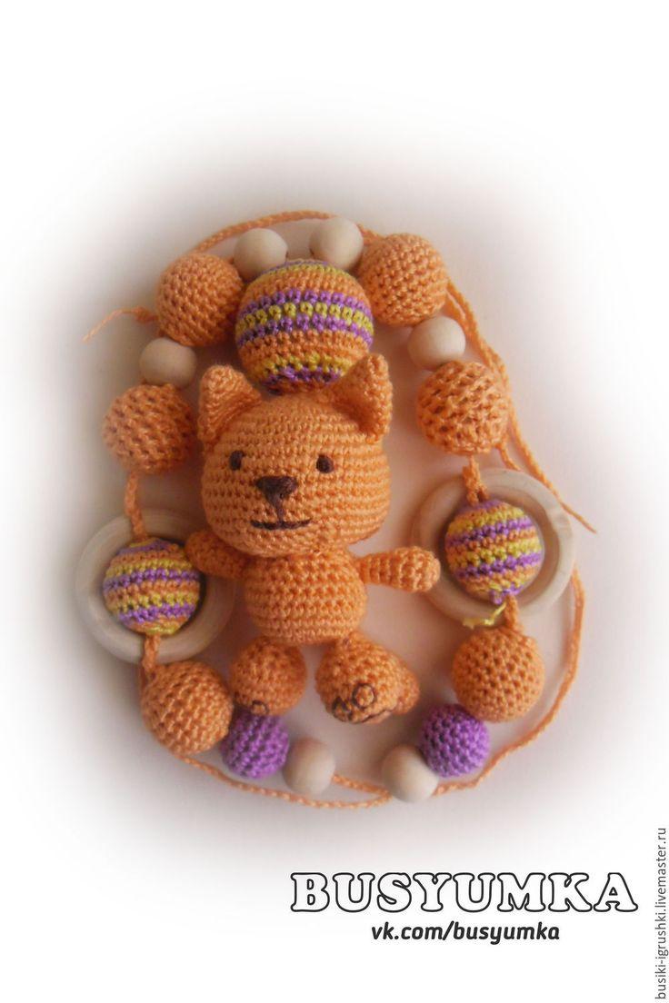 """Купить Слингобусы с игрушкой  """"Конфетный кот"""" - слингобусы, слингобусы мамабусы, слингобусы крючком, оранжевый"""