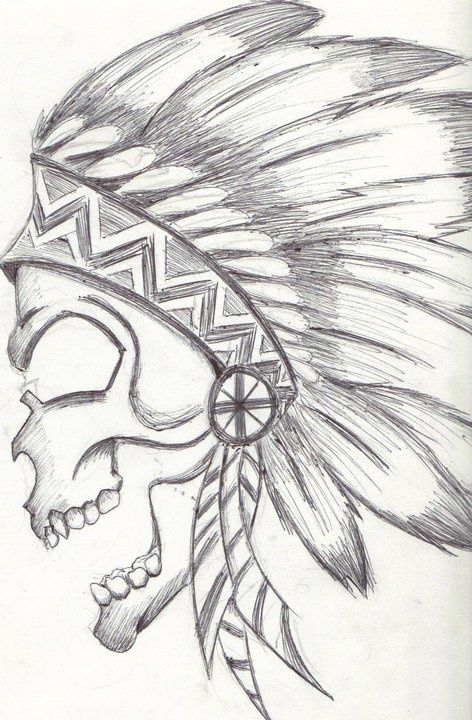Download Free native american skull drawing: Skull Drawing Art Drawing Drawing ... Tattoo to use and take to your artist.