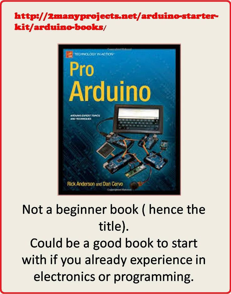 http://2manyprojects.net/arduino-starter-kit/arduino-books/  This book is not for beginners (Scheduled via TrafficWonker.com)