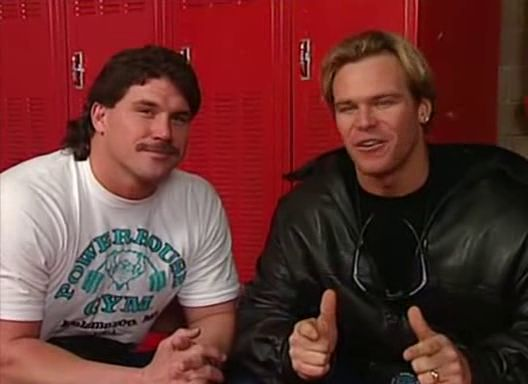 WWF / WWE Royal Rumble 1996: The Smoking Gunns talk about their title defence against The Body Donnas