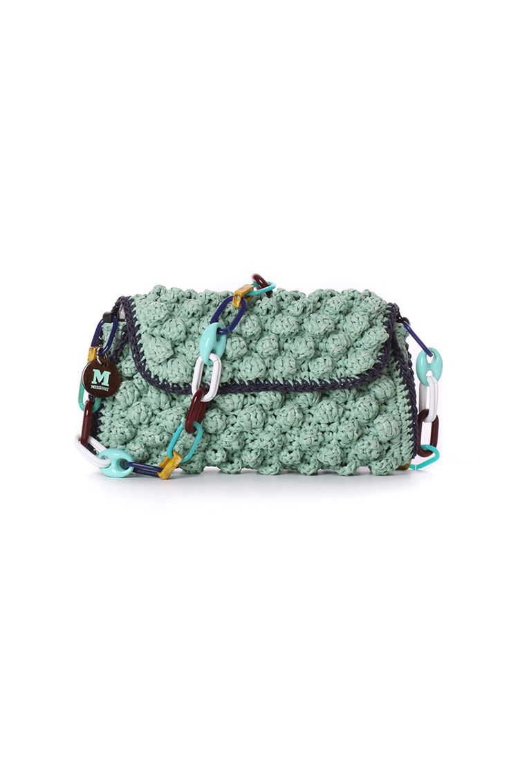 M-Missoni - AQUA FAUX-RAFFIA BAG