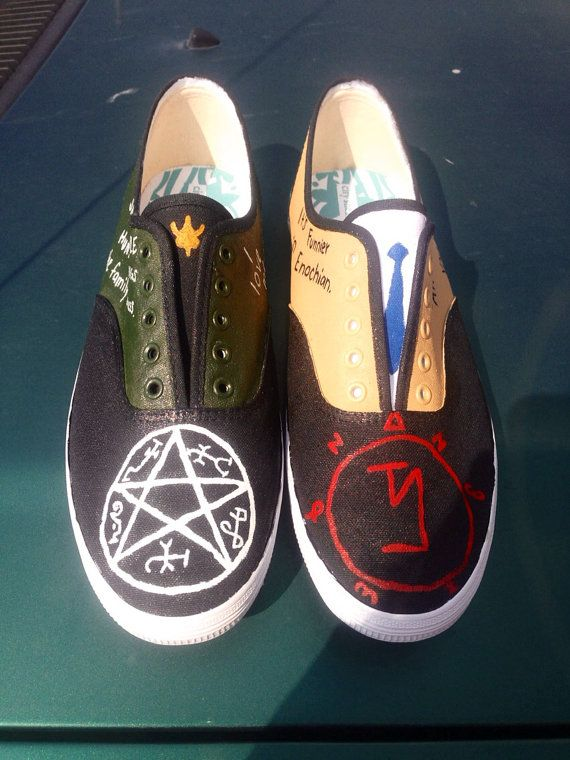 Destiel Dean/Castiel Supernatural Shoes by MyFandomStuff on Etsy, $45.00