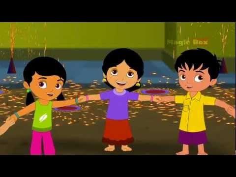 ▶ Deepavali - Happy Diwali - Children Tamil Nursery Rhymes Cartoon Songs Chellame Chellam Volume 2 - YouTube