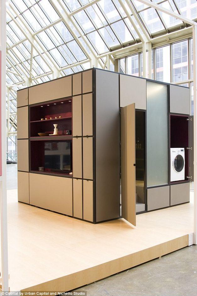 """FOTO Dormitor, bucătărie şi baie la cutie: cum arată casa cubică """"inteligentă"""""""