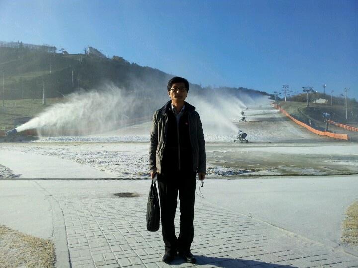 Make snow in Apensia Resort
