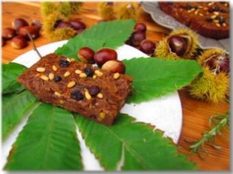 Italian sweet chestnut cake