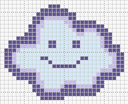 cross stitch cloud