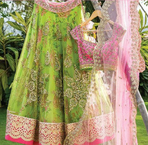 Anushree Reddy Green Lehenga Choli $1,400