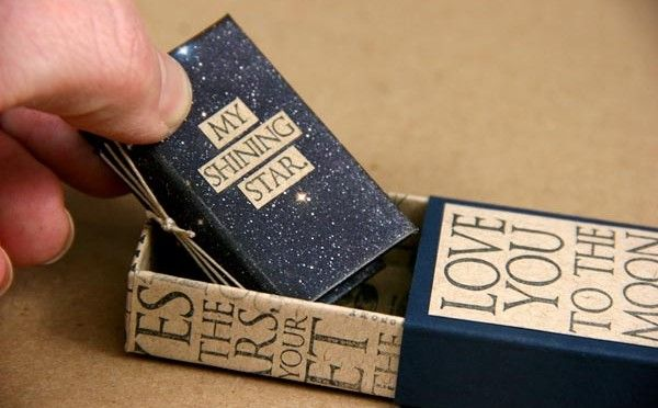 Matchbox Mini Book Created with Club Stamp Constellations Print