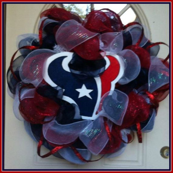 Houston Texans Wreath, make a few tweeks and FALCONS!!!!