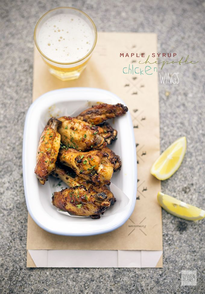 maple syrup chipotle chicken wings www.pane-burro.blogspot.it