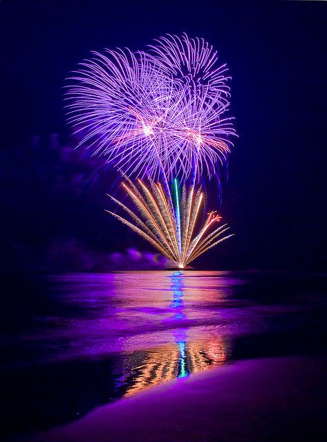 International Fireworks Festival at Scheveningen beach, Holland