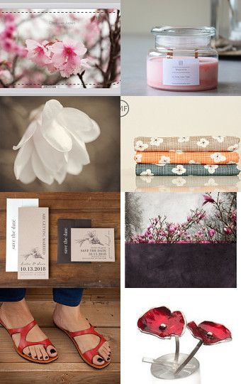 Red and Magnolia  by Kotryna Žvirblė on Etsy--Pinned with TreasuryPin.com