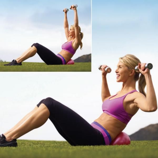 """Total-Body Workout: """"W"""" Arms and Abs - Fitness Instructor Simone De La Rue's Total-Body Workout Routine - Shape Magazine"""