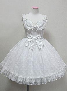 Lolita Fashion all white dress