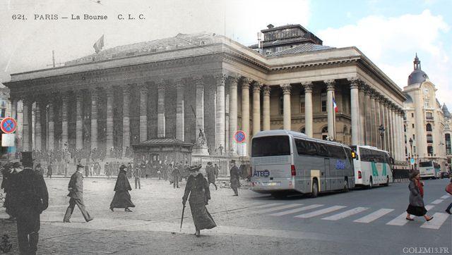 Place de la Bourse, dans le le 2e arrondissement (Crédit Image : Golem 13)