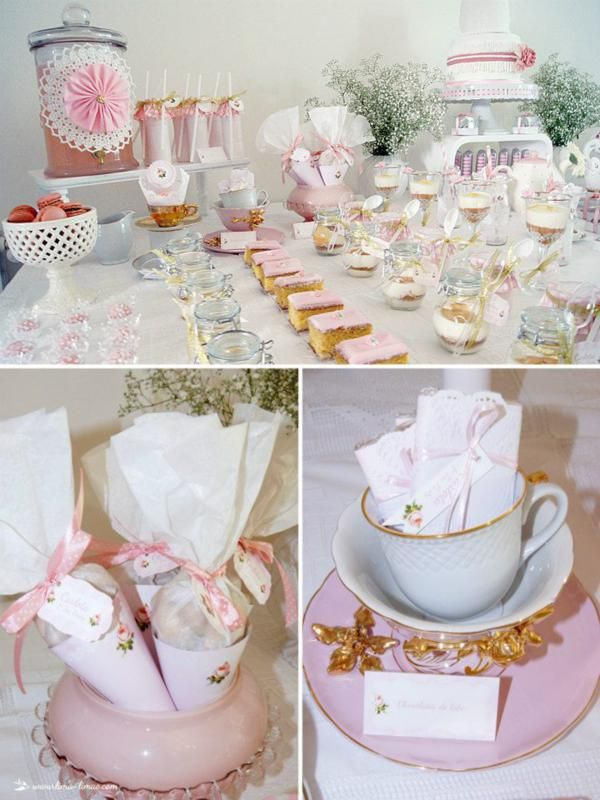 1st Birthday Vintage Tea Party Pink Girl First