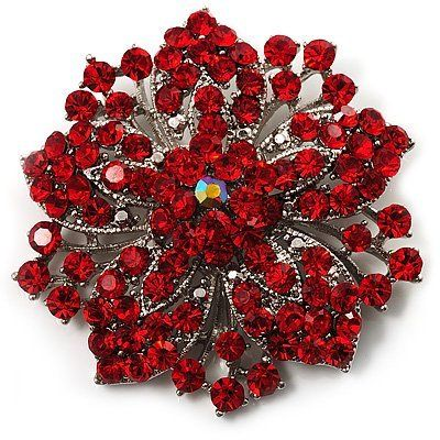 Victorian Corsage Flower Brooch (Silver Red) Avalaya, http://www.amazon.com/dp/B002WK3ZWG/ref=cm_sw_r_pi_dp_YM10pb0WRZZCS    *Shan this would be perfect to accent Sarah's dress :) *
