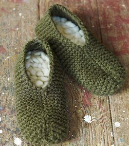 slippers with thrummed insoles