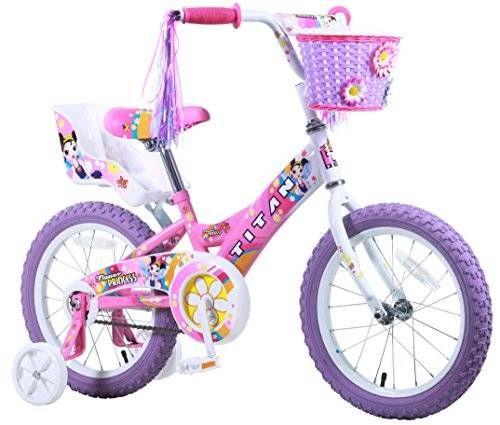 FOR GIRLS:  Titan Girl's Flower Princess BMX Bike, Pink, 16-Inch  BUY NOW HERE: