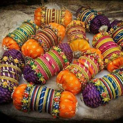 Handmade bangles | gota jewellery | mehndi jewellery