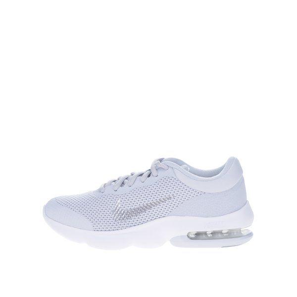 Pantofi sport gri pentru femei Nike Air Max Advantage - - varf rotunjit- logo- partea superioara realizata din plasa pentru aerisirea piciorului- lamela din cauciuc pe talpa pentru amortizare- talpa cu design care ajuta la aderenta si tractiune - brant intermediar pentru o tranzitie mai usoara intre str