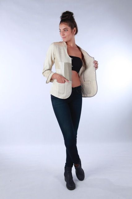 Keep it simple in our Reversible Jacket in cream