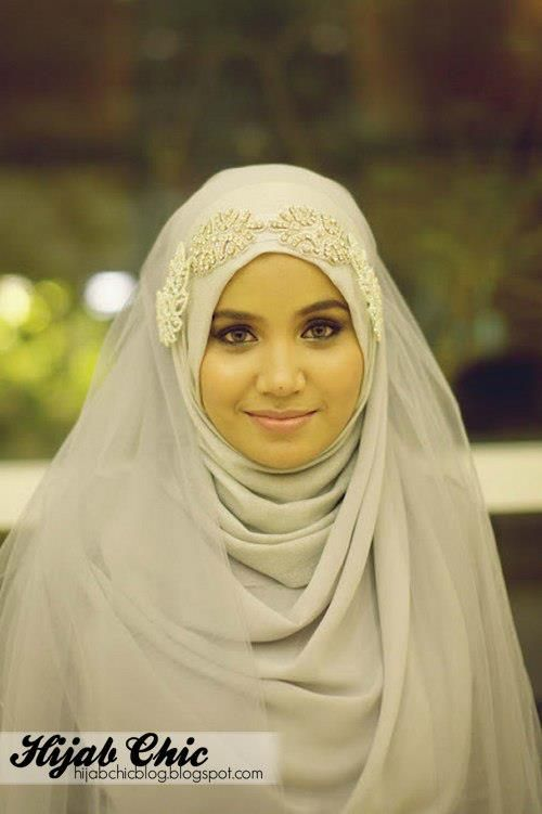Muslimah in her wedding day