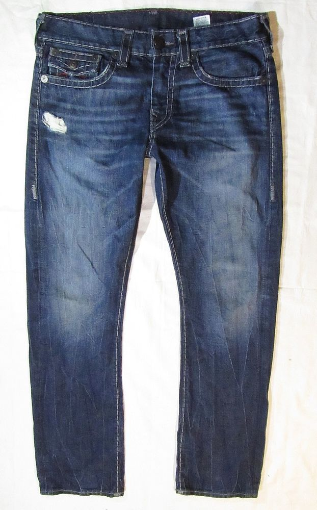 Autentic mens jeans True Religion model Ricky Made in USA 34/34 #TrueReligion #ClassicStraightLeg