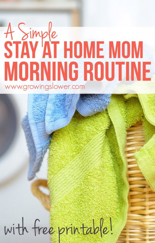 Simple routine for stay at home moms. A routine is very good for my family in accomplishing our daily tasks. PIN NOW READ LATER